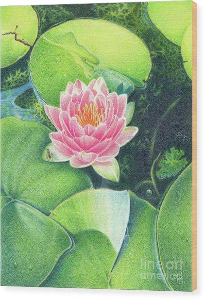 Its Pink Wood Print by Elizabeth Dobbs