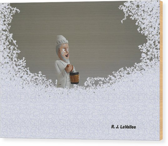 Jack Frost... Caught In The Act. Wood Print
