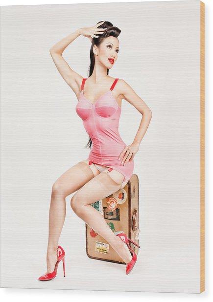 Jade Vixen Bubblegum 1076 Wood Print