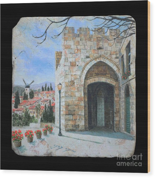 Jaffa Gate Wood Print