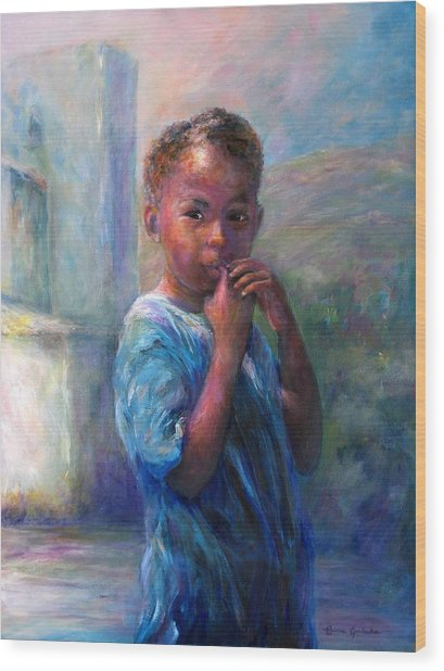 Jamacian Girl Wood Print