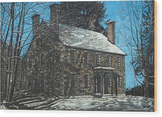 James Paul House In Durham Nh Wood Print by Robert Goudreau