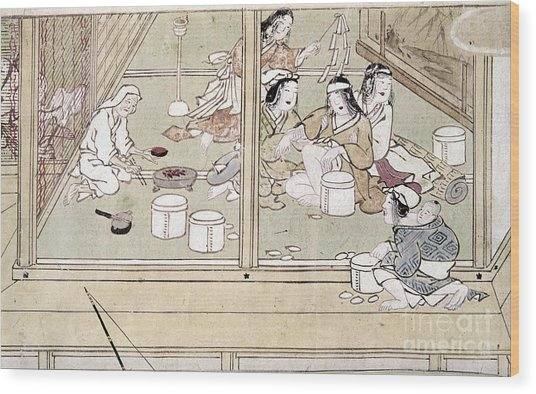 Japan: Childbirth, 1329 Wood Print