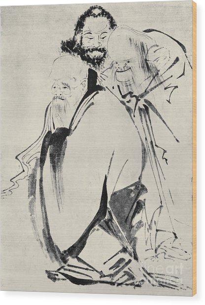 Japan: Old Men, C1425 Wood Print