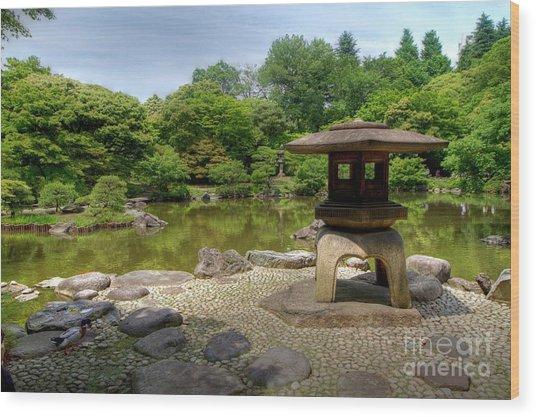 Japanese Garden -2 Wood Print