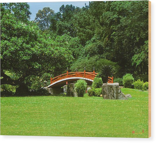 Japanese Garden Bridge 21m Wood Print
