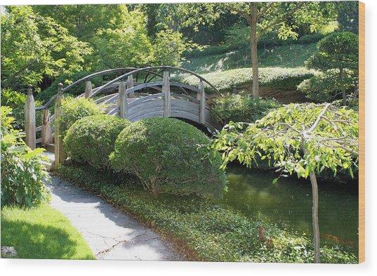 Japanese Garden Bridge Wood Print