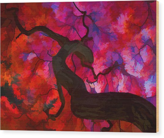 Japanese Maple Branch Wood Print