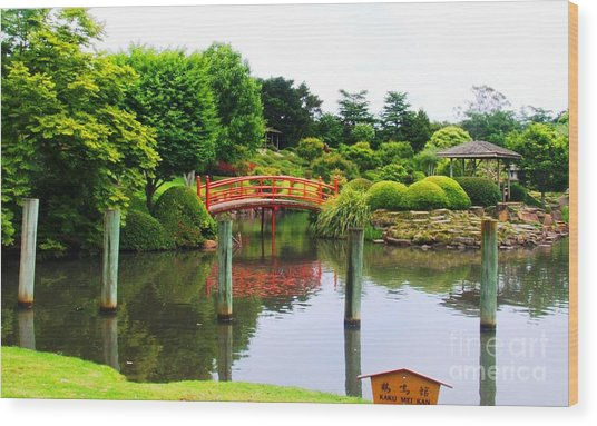 Japanese Reflections Wood Print