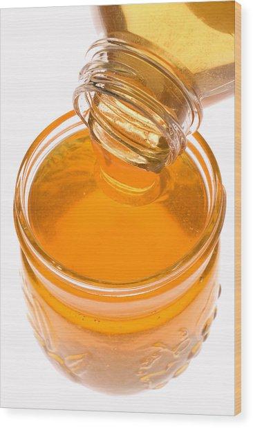 Jar Of Honey Wood Print