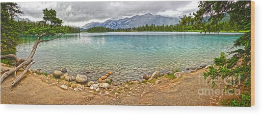 Jasper National Park - Maligne Lake Wood Print