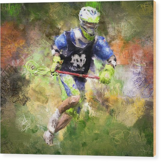 Jaxx Lacrosse 2 Wood Print by Scott Melby