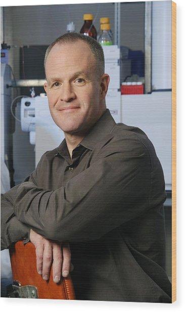 Jay Keasling, Us Scientist Wood Print by Volker Steger