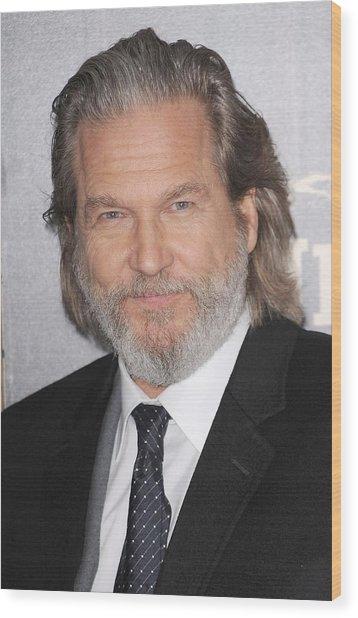 Jeff Bridges At Arrivals For True Grit Wood Print by Everett