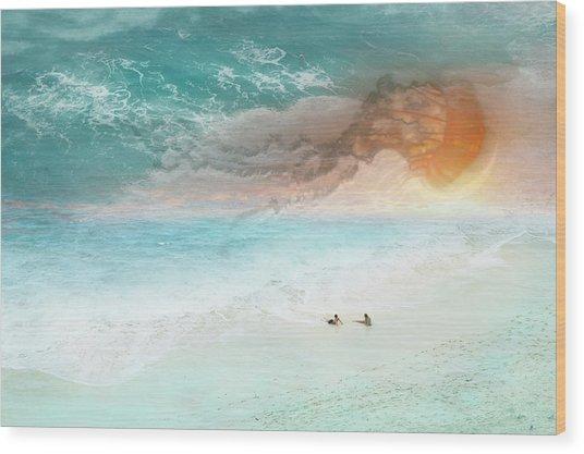 Jelly Sun Wood Print