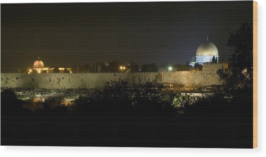 Jerusalem- City On A Hill Wood Print