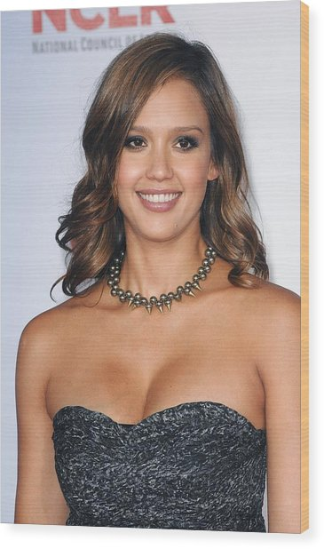 Jessica Alba At Arrivals For 2011 Nclr Wood Print