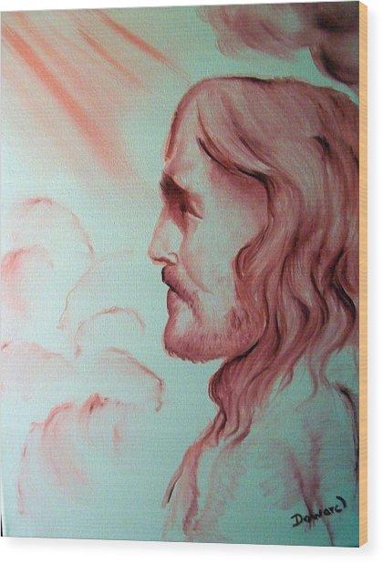 Jesus In His Glory Wood Print