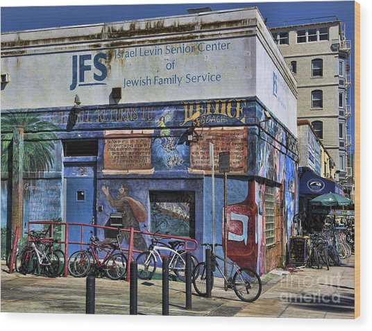 Jewish Family Center Venice Beach California  Wood Print