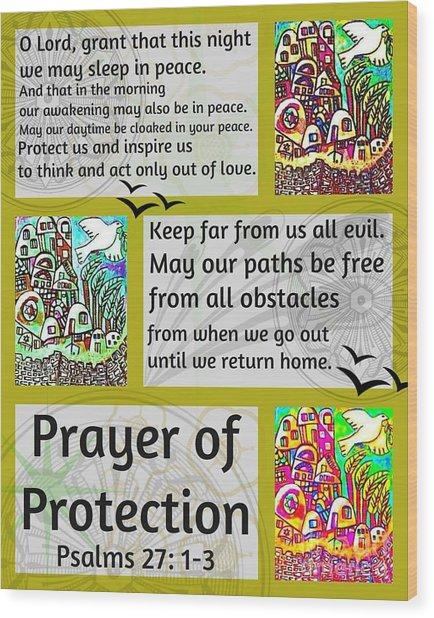 Jewish Prayer Of Protection City Of Jerusalem Gold Wood Print