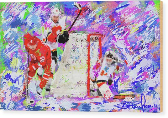 Jiri Hudler Wood Print by Donald Pavlica