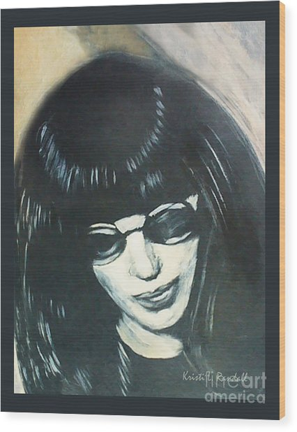 Joey Ramone The Ramones Portrait Wood Print by Kristi L Randall