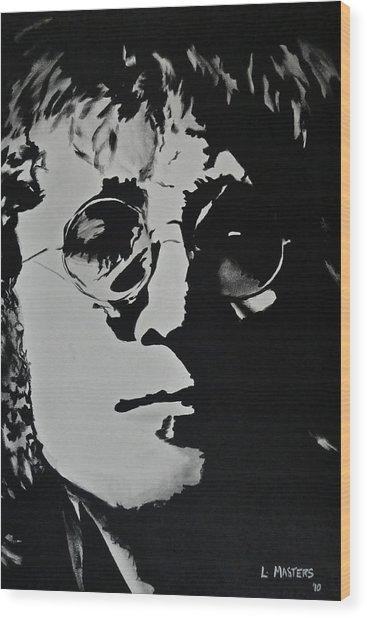 John Lennon Wood Print by Lisa Masters