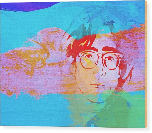 John Lennon Wood Print by Naxart Studio