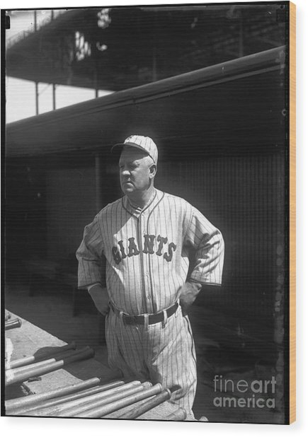 John Mcgraw -  New York Giants Wood Print by David Bearden