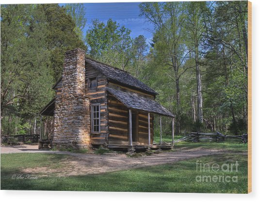 John Oliver Cabin Wood Print