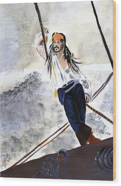 Johnny Depp 8 Wood Print