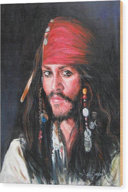 Johnny Depp Wood Print by Anju Saran