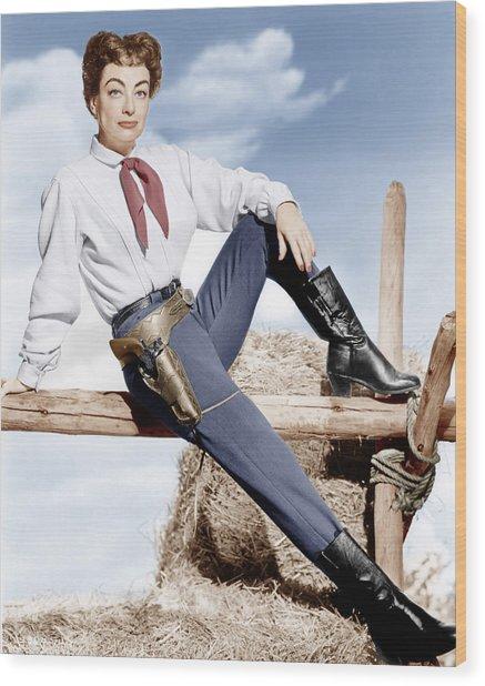Johnny Guitar, Joan Crawford, 1954 Wood Print by Everett