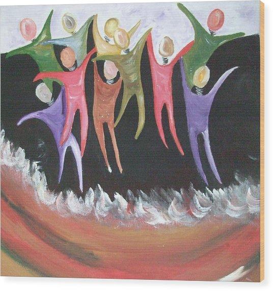 Joy Unspeakable Wood Print by Freda Lade-Ajumobi