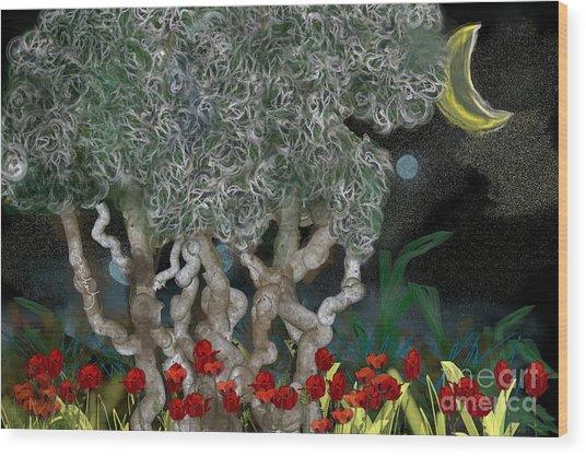 Jungle Night Wood Print