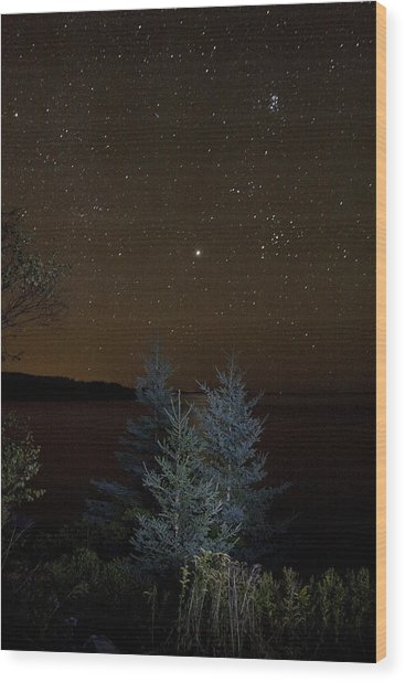 Jupiter  Over Otter Point 2 Wood Print
