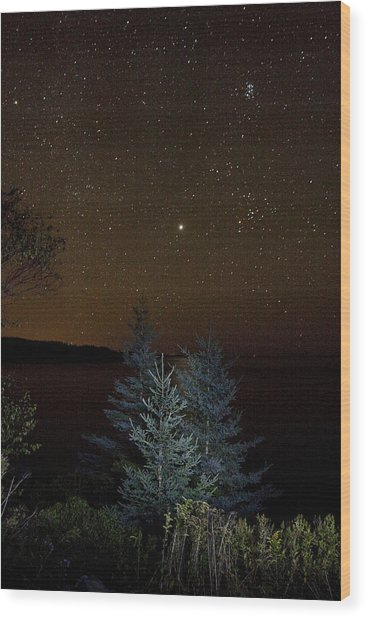 Jupiter  Over Otter Point 3 Wood Print
