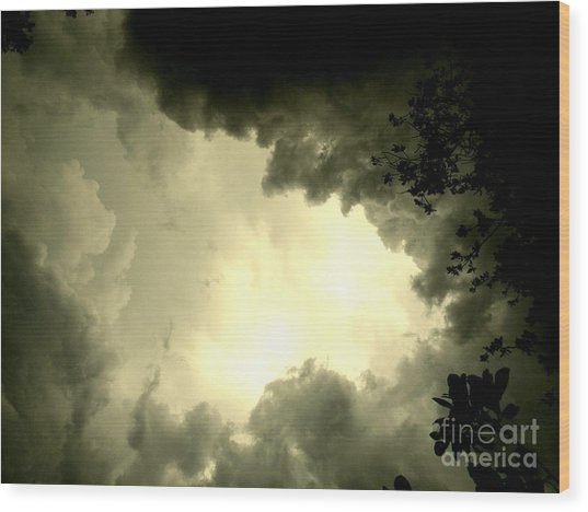 Just Look Up Wood Print by Kimberly Dawn Hendley