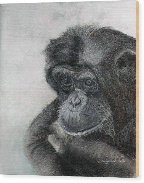 Just Thinking Wood Print by Sandra Sengstock-Miller