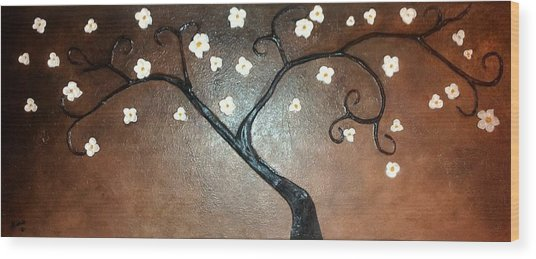 Just Thirty Two Flowers Wood Print by Edwin Alverio