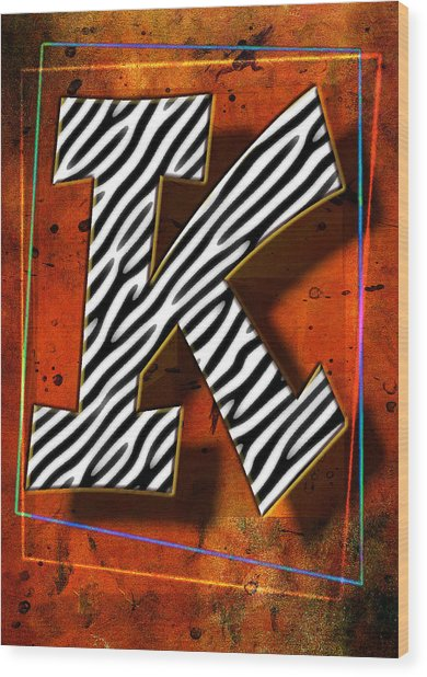 K Wood Print