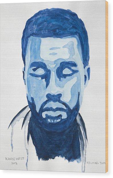 Kanye West Wood Print by Michael Ringwalt