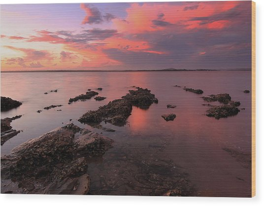 Karuha Sunset 2 Wood Print