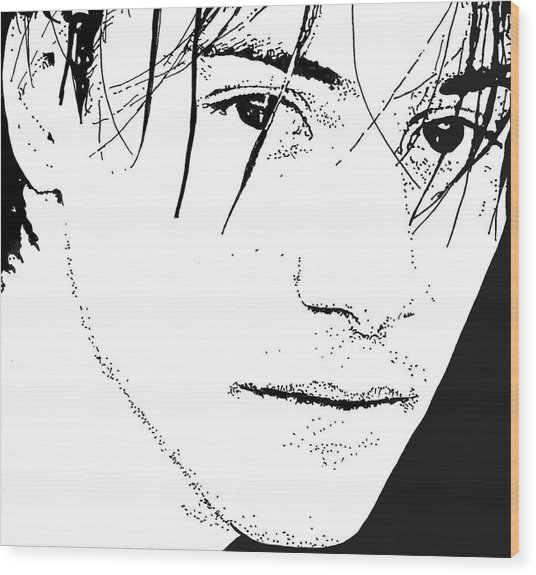 Keanu Reeves 2 Wood Print by Lori Jackson