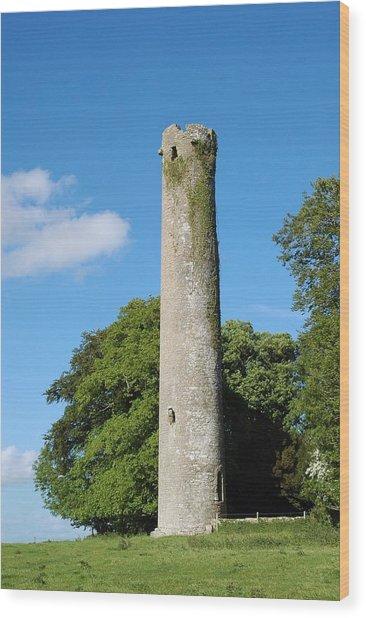 Kells Tower Wood Print by George Crawford