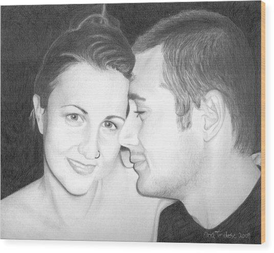Kelly And Chris Lanktree Wood Print
