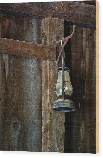 Kerosene Lantern Wood Print