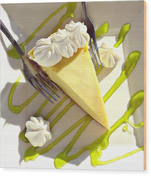 Key Lime Pie Wood Print