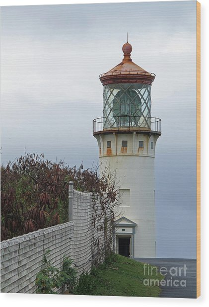 Kilauea Lighthouse  Kauai Wood Print