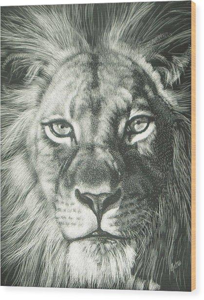 King 2 Wood Print by Joanna Gates